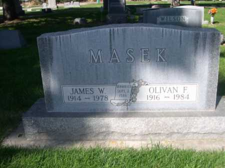 MASEK, JAMES W. - Dawes County, Nebraska | JAMES W. MASEK - Nebraska Gravestone Photos
