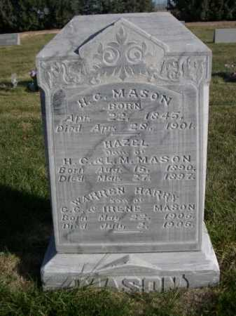 MASON, WARREN HARRY - Dawes County, Nebraska | WARREN HARRY MASON - Nebraska Gravestone Photos