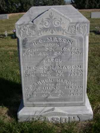 MASON, H. C. - Dawes County, Nebraska   H. C. MASON - Nebraska Gravestone Photos