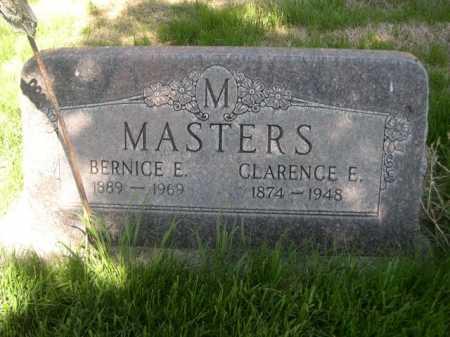 MASTERS, CLARENCE E. - Dawes County, Nebraska | CLARENCE E. MASTERS - Nebraska Gravestone Photos
