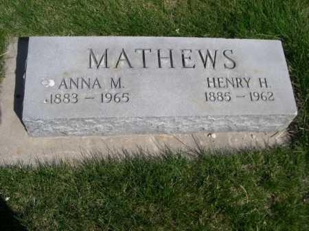 MATHEWS, ANNA M. - Dawes County, Nebraska | ANNA M. MATHEWS - Nebraska Gravestone Photos