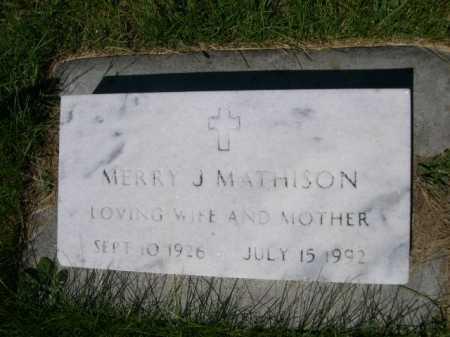 MATHISON, MERRY J. - Dawes County, Nebraska   MERRY J. MATHISON - Nebraska Gravestone Photos