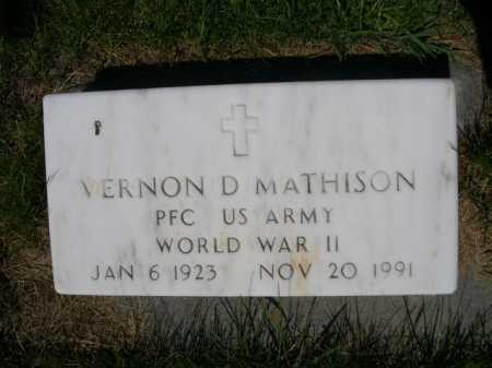 MATHISON, VERNON D. - Dawes County, Nebraska   VERNON D. MATHISON - Nebraska Gravestone Photos