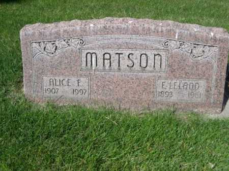 MATSON, E. LELAND - Dawes County, Nebraska | E. LELAND MATSON - Nebraska Gravestone Photos