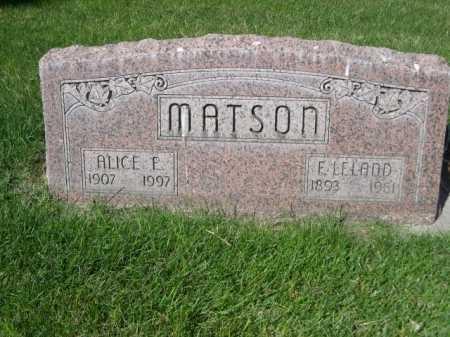 MATSON, ALICE F. - Dawes County, Nebraska | ALICE F. MATSON - Nebraska Gravestone Photos