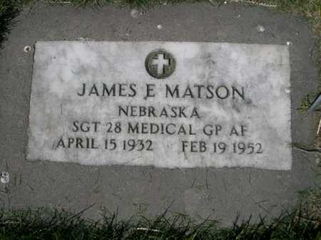 MATSON, JAMES E. - Dawes County, Nebraska | JAMES E. MATSON - Nebraska Gravestone Photos