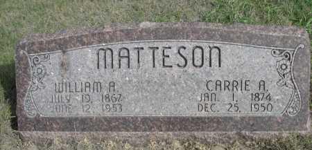 MATTESON, CARRIE A. - Dawes County, Nebraska | CARRIE A. MATTESON - Nebraska Gravestone Photos