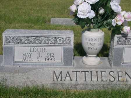 MATTHESEN, LOUIE - Dawes County, Nebraska | LOUIE MATTHESEN - Nebraska Gravestone Photos
