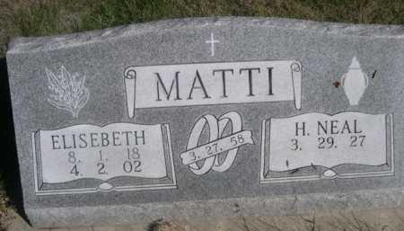 MATTI, ELISEBETH - Dawes County, Nebraska | ELISEBETH MATTI - Nebraska Gravestone Photos