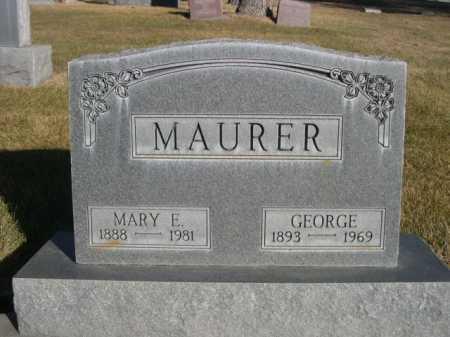 MAURER, GEORGE - Dawes County, Nebraska | GEORGE MAURER - Nebraska Gravestone Photos