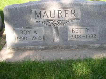 MAURER, ROY A. - Dawes County, Nebraska | ROY A. MAURER - Nebraska Gravestone Photos