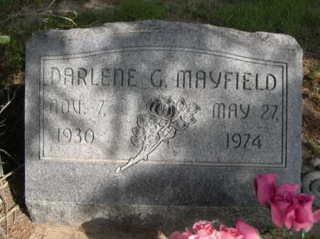 MAYFIELD, DARLENE G. - Dawes County, Nebraska | DARLENE G. MAYFIELD - Nebraska Gravestone Photos