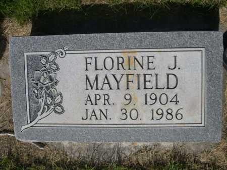 MAYFIELD, FLORINE J. - Dawes County, Nebraska | FLORINE J. MAYFIELD - Nebraska Gravestone Photos