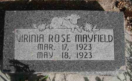 MAYFIELD, VIRINIA ROSE - Dawes County, Nebraska | VIRINIA ROSE MAYFIELD - Nebraska Gravestone Photos
