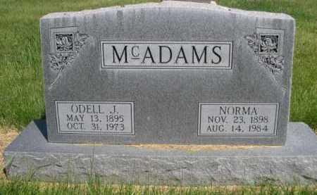 MCADAMS, NORMA - Dawes County, Nebraska | NORMA MCADAMS - Nebraska Gravestone Photos
