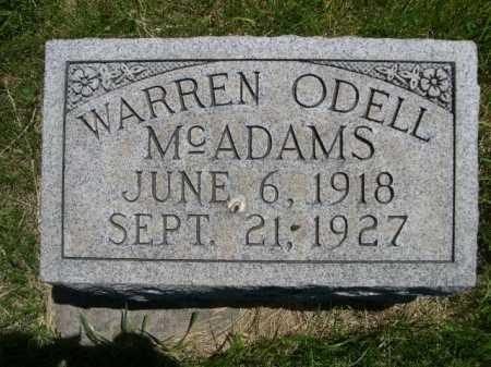 MCADAMS, WARREN ODELL - Dawes County, Nebraska   WARREN ODELL MCADAMS - Nebraska Gravestone Photos