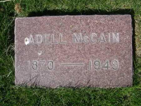 MCCAIN, ADELL - Dawes County, Nebraska | ADELL MCCAIN - Nebraska Gravestone Photos