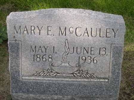 MCCAULEY, MARY E. - Dawes County, Nebraska   MARY E. MCCAULEY - Nebraska Gravestone Photos