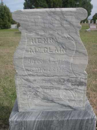 MCCLAIN, HENRY - Dawes County, Nebraska | HENRY MCCLAIN - Nebraska Gravestone Photos