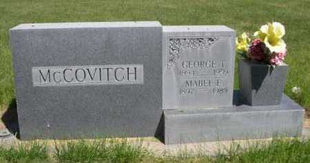 MCCOVITCH, GEORGE T. - Dawes County, Nebraska   GEORGE T. MCCOVITCH - Nebraska Gravestone Photos