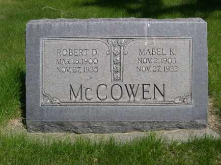MCCOWEN, MABLE K. - Dawes County, Nebraska   MABLE K. MCCOWEN - Nebraska Gravestone Photos
