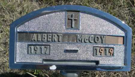 MCCOY, ALBERT - Dawes County, Nebraska | ALBERT MCCOY - Nebraska Gravestone Photos
