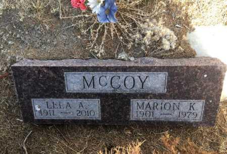 MCCOY, MARION K. - Dawes County, Nebraska | MARION K. MCCOY - Nebraska Gravestone Photos