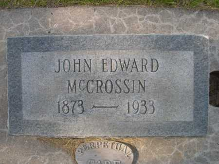 MCCROSSIN, JOHN EDWARD - Dawes County, Nebraska | JOHN EDWARD MCCROSSIN - Nebraska Gravestone Photos