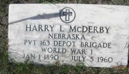 MCDERBY, HARRY L. - Dawes County, Nebraska | HARRY L. MCDERBY - Nebraska Gravestone Photos