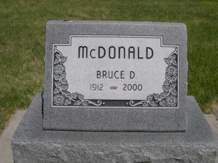 MCDONALD, BRUCE D. - Dawes County, Nebraska | BRUCE D. MCDONALD - Nebraska Gravestone Photos