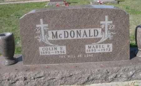MCDONALD, COLIN F.. - Dawes County, Nebraska | COLIN F.. MCDONALD - Nebraska Gravestone Photos