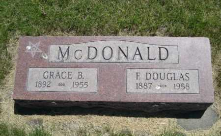 MCDONALD, GRACE B. - Dawes County, Nebraska | GRACE B. MCDONALD - Nebraska Gravestone Photos