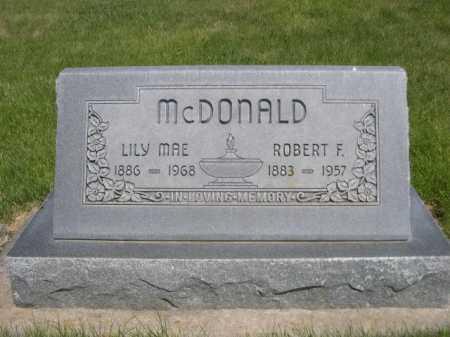 MCDONALD, ROBERT F. - Dawes County, Nebraska | ROBERT F. MCDONALD - Nebraska Gravestone Photos
