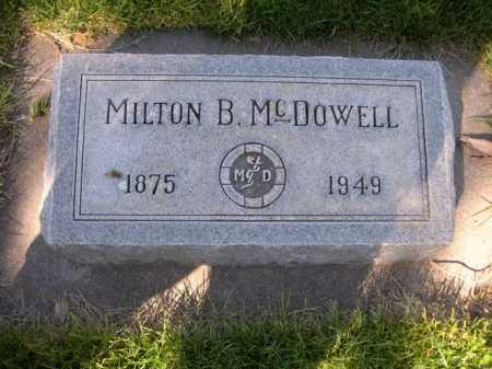 MCDOWELL, DR. MILTON B. - Dawes County, Nebraska | DR. MILTON B. MCDOWELL - Nebraska Gravestone Photos
