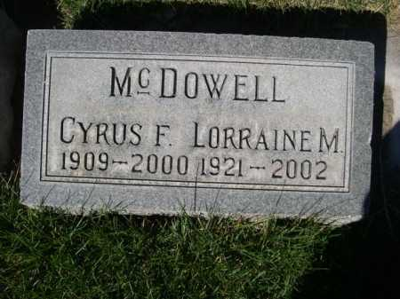 MCDOWELL, CYRUS F. - Dawes County, Nebraska | CYRUS F. MCDOWELL - Nebraska Gravestone Photos