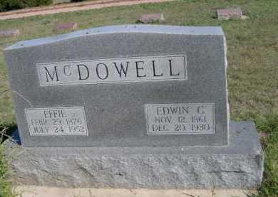 MCDOWELL, EFFIE - Dawes County, Nebraska | EFFIE MCDOWELL - Nebraska Gravestone Photos