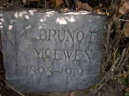 MCEWEN, BRUNO F. - Dawes County, Nebraska | BRUNO F. MCEWEN - Nebraska Gravestone Photos