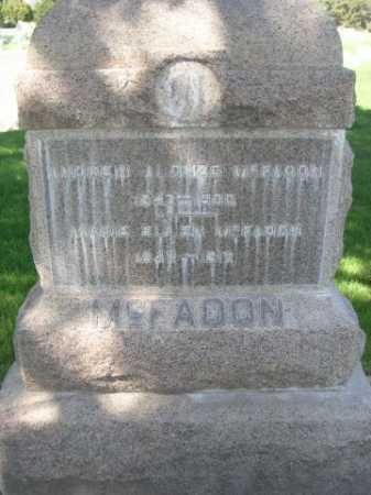 MCFADON, ANDREW ALONZO - Dawes County, Nebraska | ANDREW ALONZO MCFADON - Nebraska Gravestone Photos