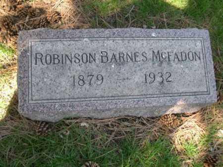 MCFADON, ROBINSON BARNES - Dawes County, Nebraska | ROBINSON BARNES MCFADON - Nebraska Gravestone Photos