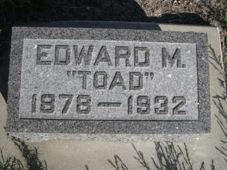 MCFARLAND, EDWRD M. - Dawes County, Nebraska   EDWRD M. MCFARLAND - Nebraska Gravestone Photos