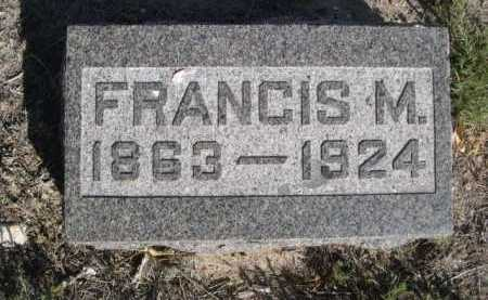 MCFARLAND, FRANCIS M. - Dawes County, Nebraska | FRANCIS M. MCFARLAND - Nebraska Gravestone Photos