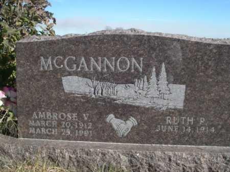 MCGANNON, AMBROSE V. - Dawes County, Nebraska   AMBROSE V. MCGANNON - Nebraska Gravestone Photos
