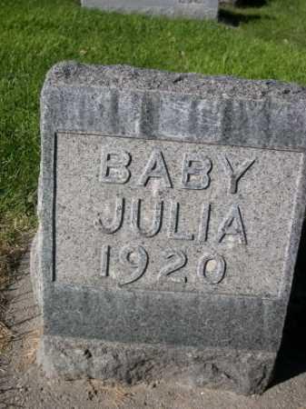 MCGANNON, BABY JULIA - Dawes County, Nebraska | BABY JULIA MCGANNON - Nebraska Gravestone Photos