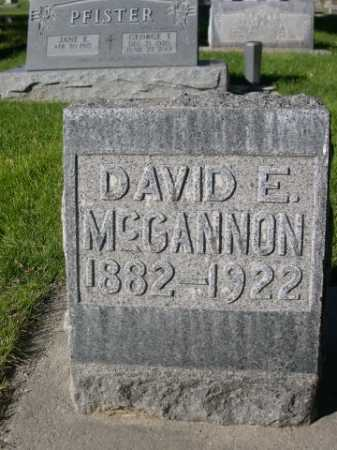 MCGANNON, DAVID E. - Dawes County, Nebraska | DAVID E. MCGANNON - Nebraska Gravestone Photos