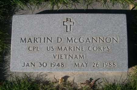 MCGANNON, MARTIN D. - Dawes County, Nebraska   MARTIN D. MCGANNON - Nebraska Gravestone Photos