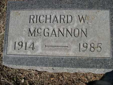 MCGANNON, RICHARD W. - Dawes County, Nebraska   RICHARD W. MCGANNON - Nebraska Gravestone Photos