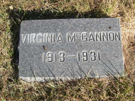 MCGANNON, VIRGINIA - Dawes County, Nebraska   VIRGINIA MCGANNON - Nebraska Gravestone Photos
