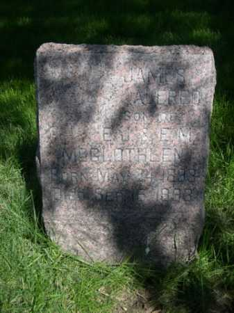 MCGLOTHLENN, JAMES ALFRED - Dawes County, Nebraska | JAMES ALFRED MCGLOTHLENN - Nebraska Gravestone Photos