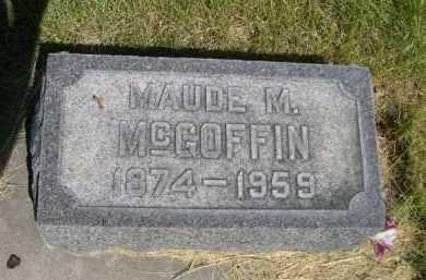MCGOFFIN, MAUDE M. - Dawes County, Nebraska | MAUDE M. MCGOFFIN - Nebraska Gravestone Photos