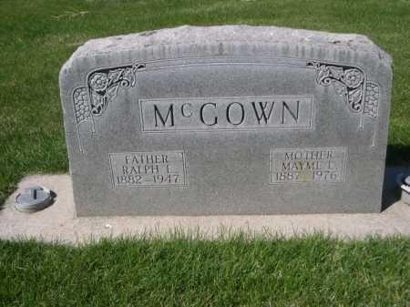 MCGOWN, RALPH E. - Dawes County, Nebraska | RALPH E. MCGOWN - Nebraska Gravestone Photos